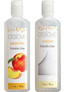 Oralove Delicious Duo Lickable Peaches And Cream Lubes 1...