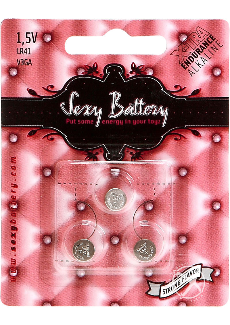 Sexy Battery Xtra Endurance Alkaline Battery Lr41 V3ga/ 1.5v (3 Pack)